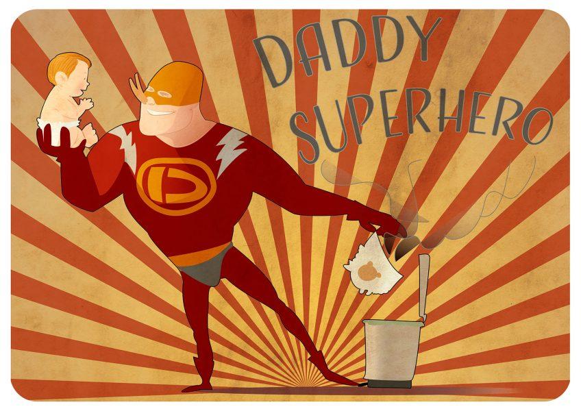 Daddy-superhero