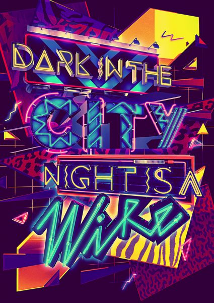 Dark In The City Night Is A Wire