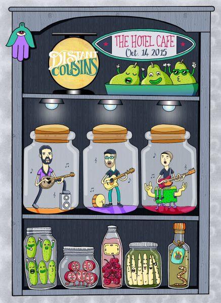 Distant Cousins Concert Poster