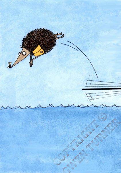 Diving hedgehog