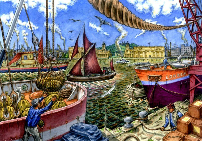 Dockland scene -1960's