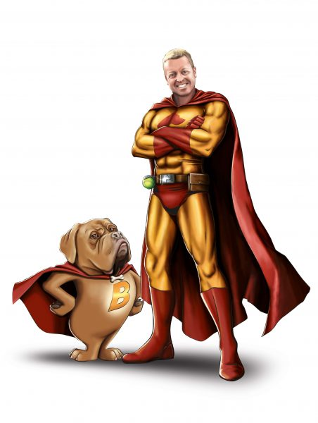 Dom Hodgson Avatar - and Barry the Dog