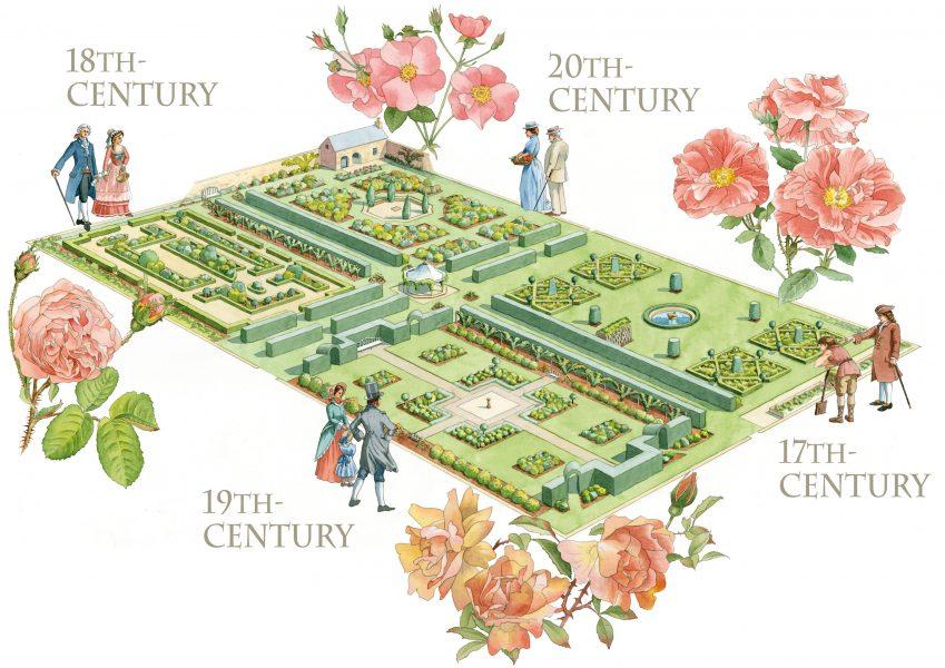 Drum Castle Rose Garden