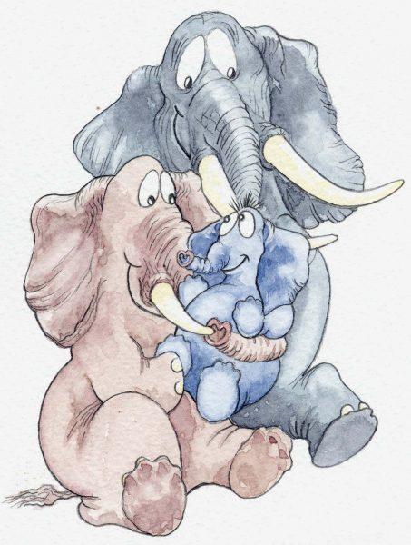 Elephant baby card