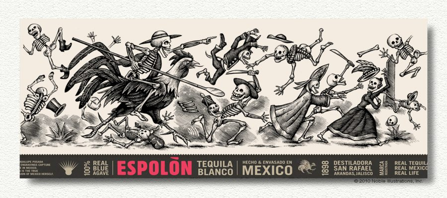 Espolon Tequila Label Illustration