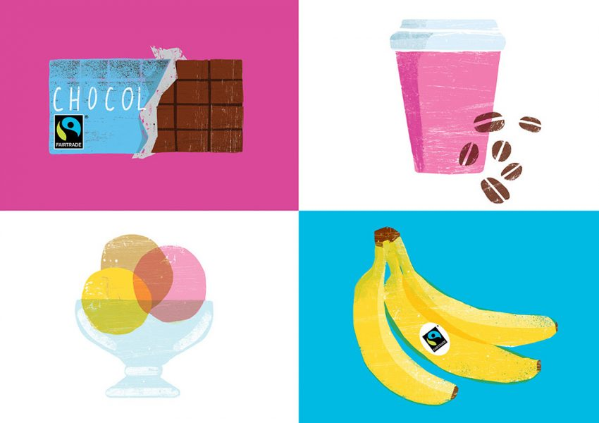 Fairtrade UK products illustrations