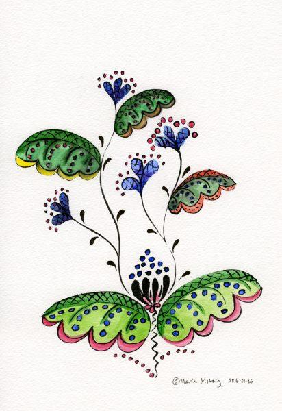 Fantasy Kurbits Flower