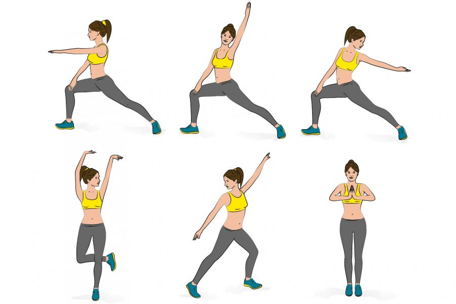 Female exercise workout