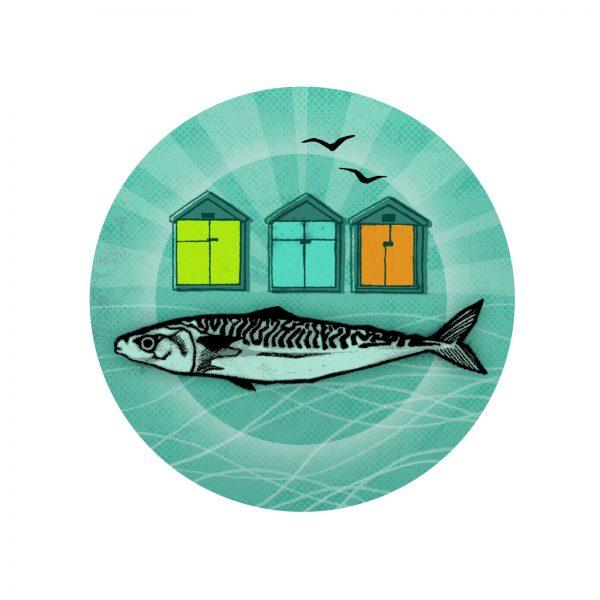 Fish badge