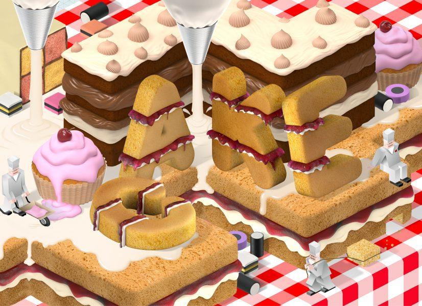 Food editorial artwork