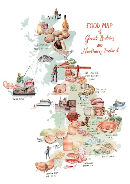 Food Map of the UK