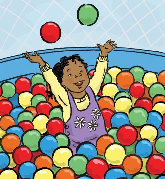 Girl in a ball pool