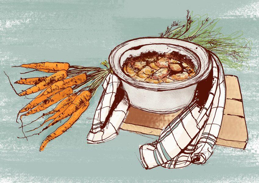 Gorgeous Carrot Gratin