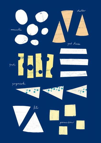 Gourmet cheese chart