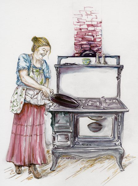 Grit Magazine ~ Lead; demonstrating Apron usage. Dyes & Graphite