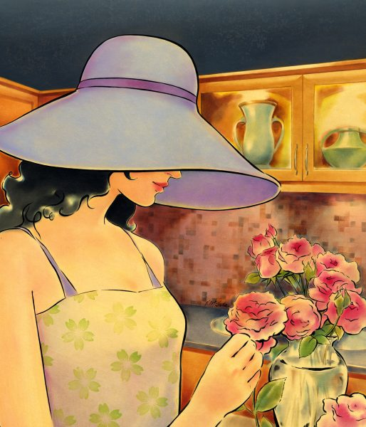 Hat and Flowers