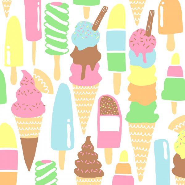 Ice Cream Pattern Design