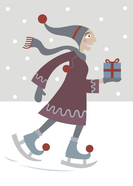 Ice Skating Card