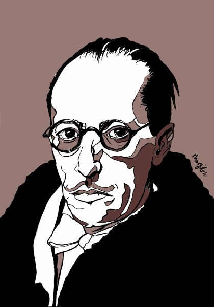 Igor Stravinsky | pen/ink/digital