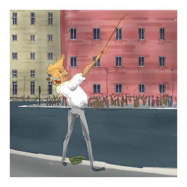 il violinista, concerto di strada