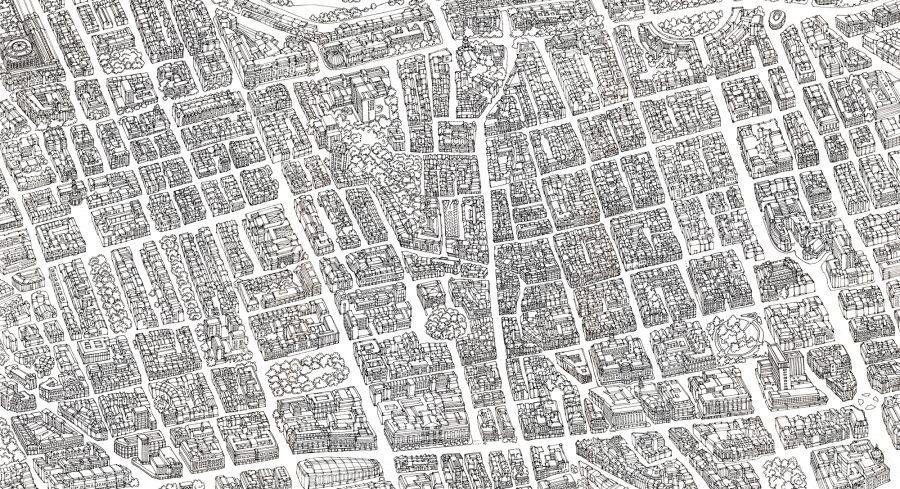 Illustrated Map Marylebone