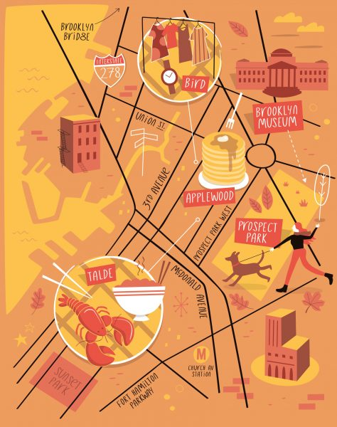Illustrated map of Brooklyn