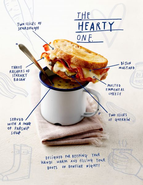 Illustrated Sandwich Recipe