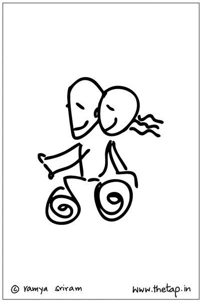 Illustration/Line art: Bike rides!