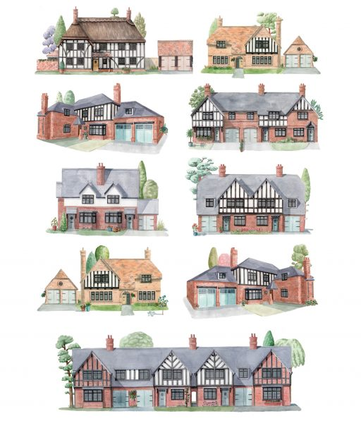 Illustrations for Kingshurst Homes and Philosophy Design