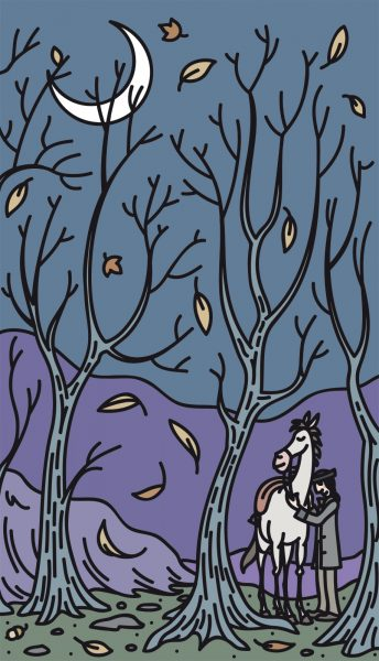In the Wood, illustration for back cover.