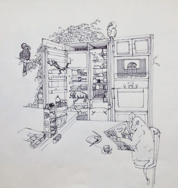 Inside the refrigerator