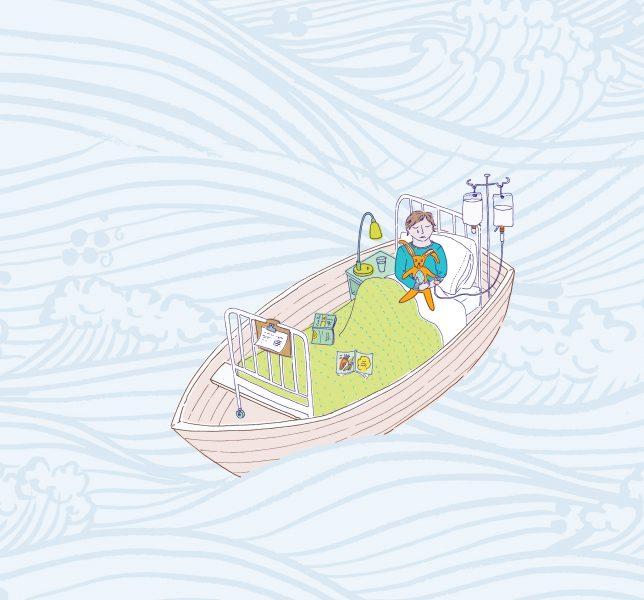 Invalid boy in Boat