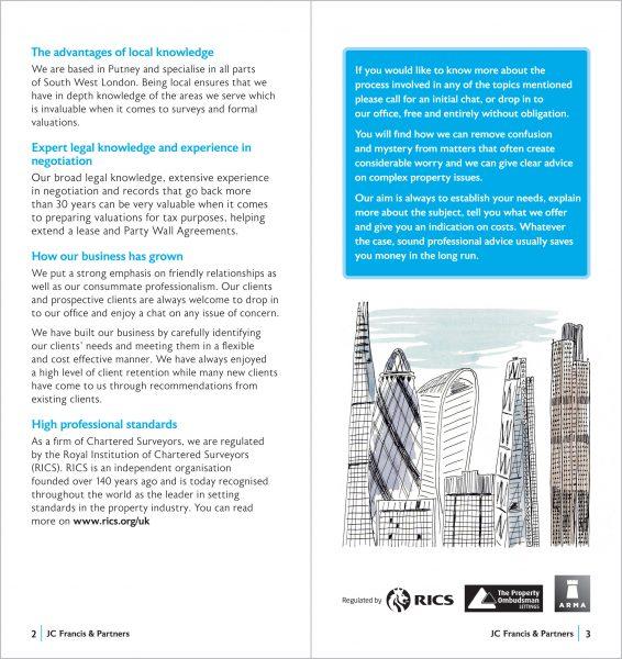 JC Francis Chartered Surveyors brochure