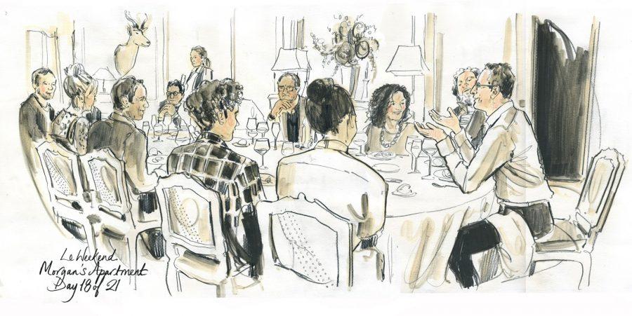Jeff Goldblum Dinner Party Scene Free Range Films / Le Weekend
