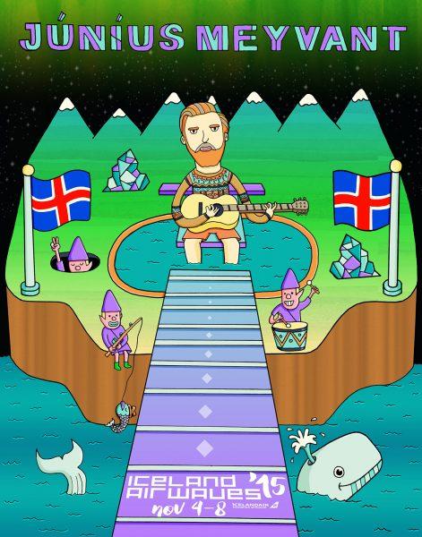 Junius Meyvant Iceland Concert Poster