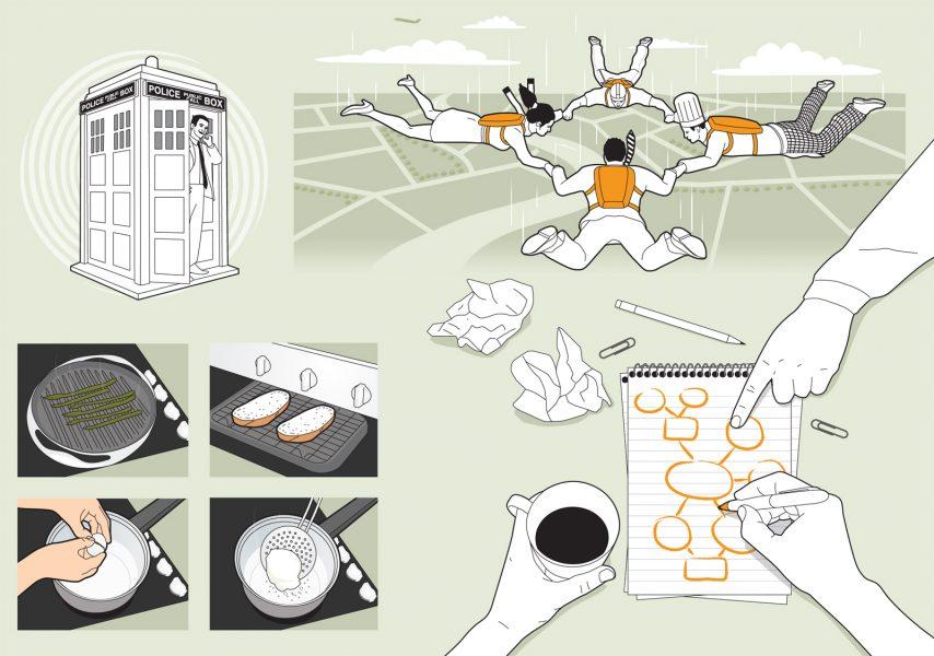 Keyline illustration