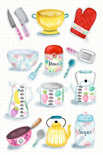 Kitchenware illustration