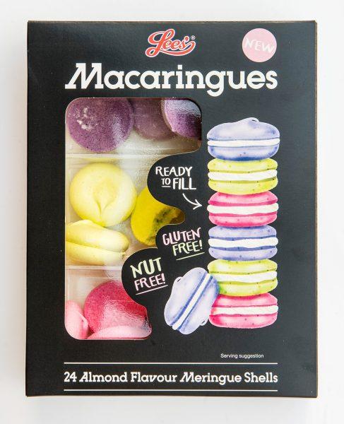 Lee's Food Macaringues Packaging Illustration