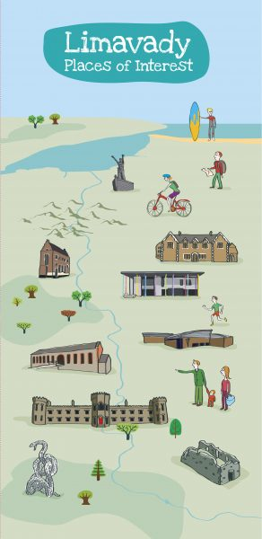 Limavady Illustrated Map Side 1