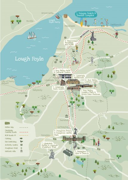 Limavady Illustrated Map Side 2