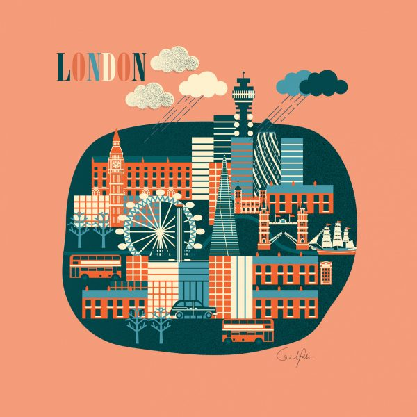 London illustration for greeting cards and print