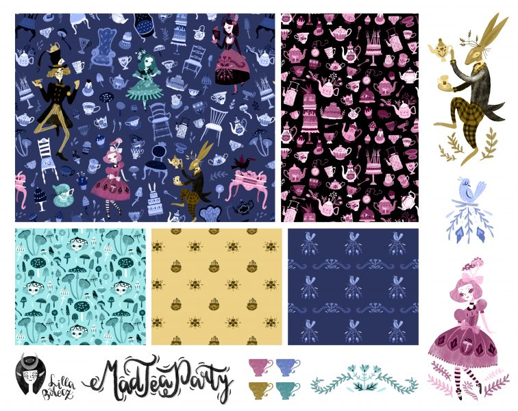 Mad Tea Party Pattern Collection