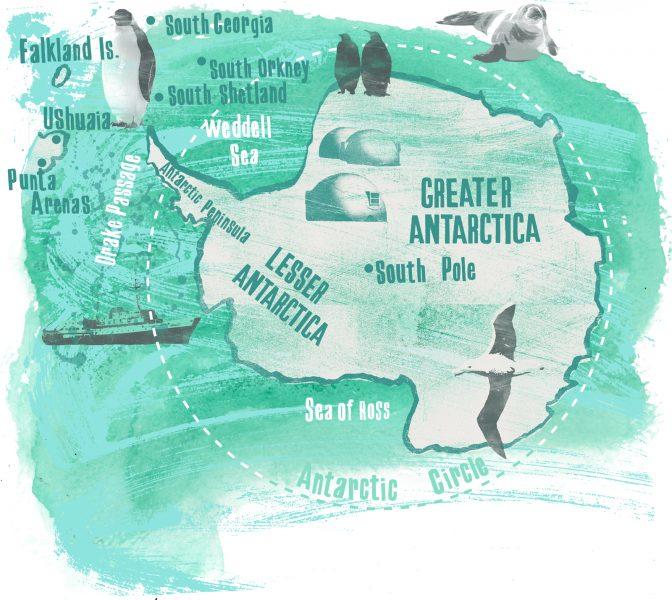 Map Antarctica