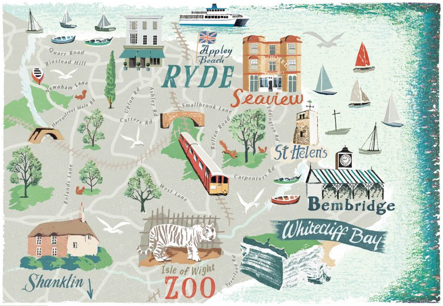 Map of  Ryde
