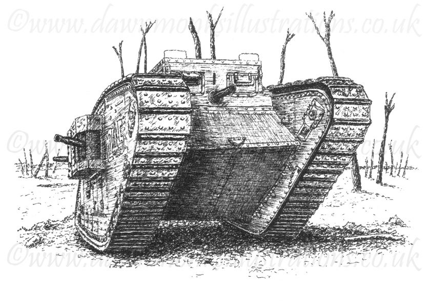 Mark IV British Great War Tank