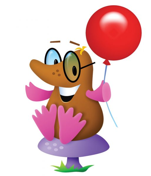 Mole with Red Balloon