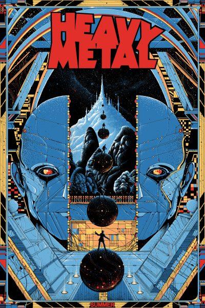 Mondo Heavy Metal Magazine Promo Screenprint Poster