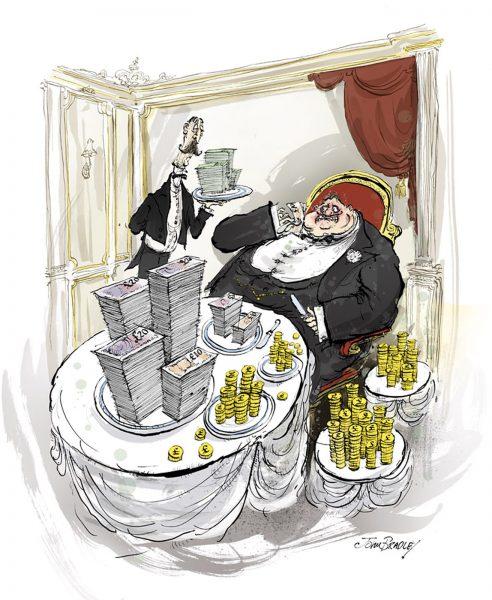Money glutton