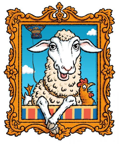 Montauciel the sheep. For BA 'Skyflyers' magazine