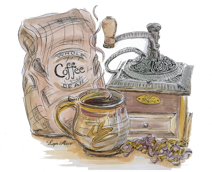 �Morning Coffee� ~ Dyes & Ink